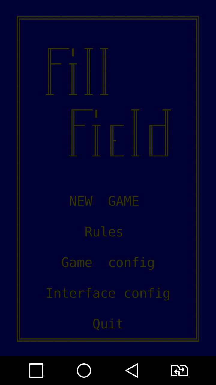 FillField ASCII game for Android gameplay(type 2)