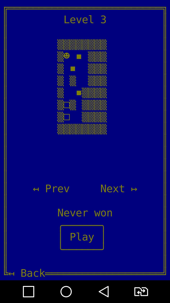 WaHoKe(Sokoban) ASCII game for Android Game config