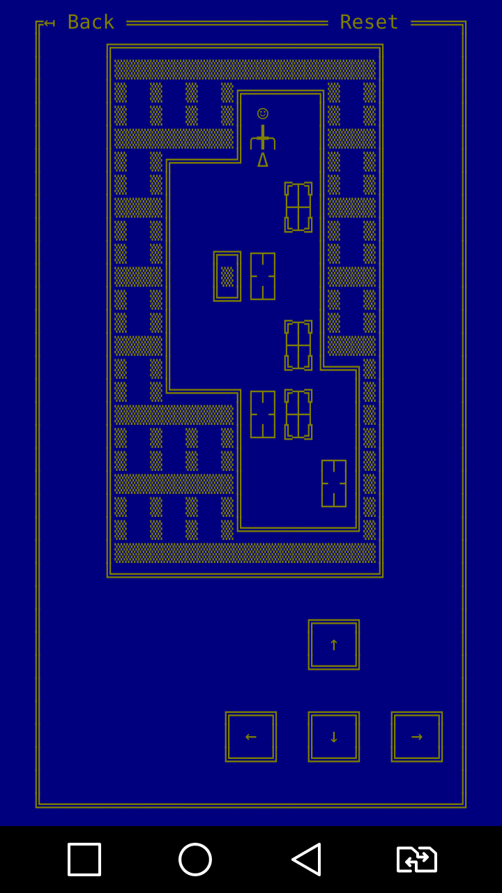 WaHoKe(Sokoban) ASCII game for Android Level selection